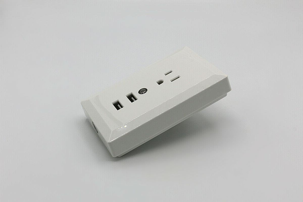 Wall Night Dual USB Charger Socket