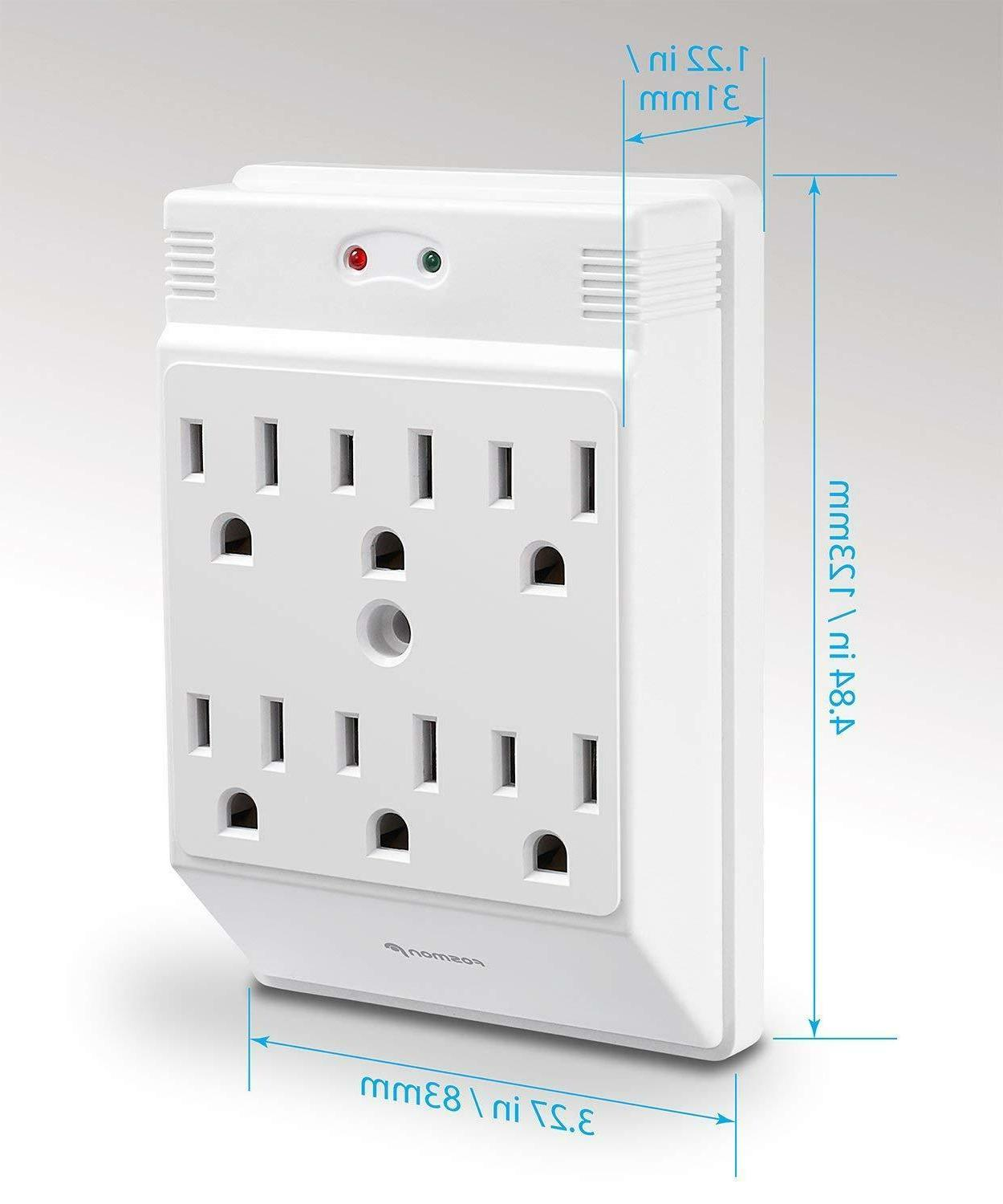 Wall Tap Power Surge Protector Outlets