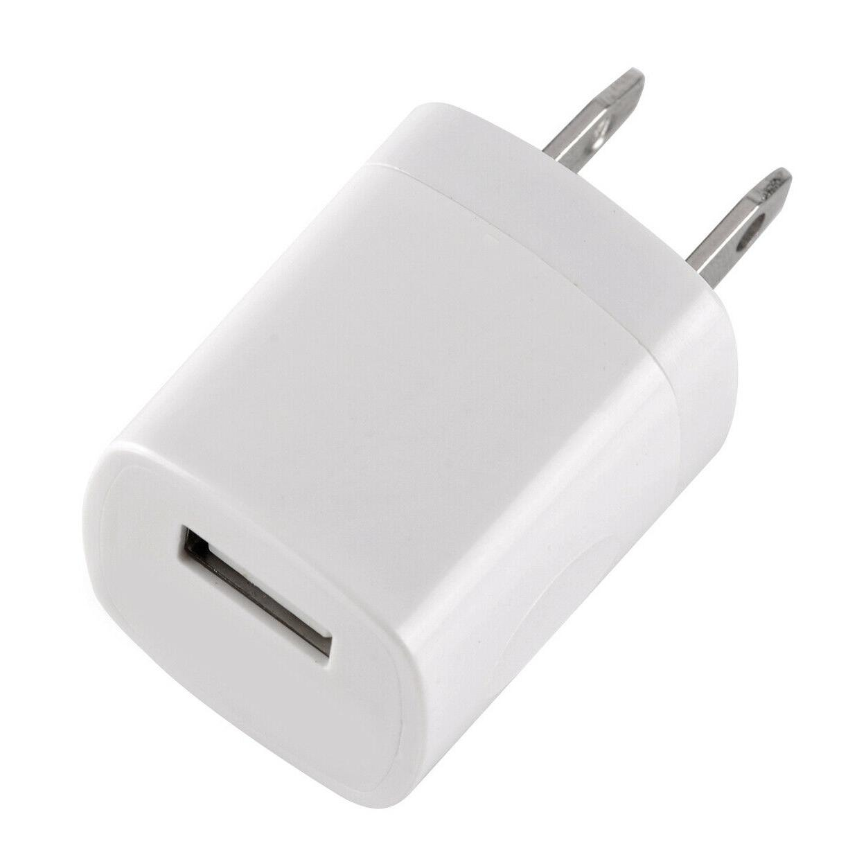 2x White Power Adapter AC Home Wall US FOR iPhone 6 7 8