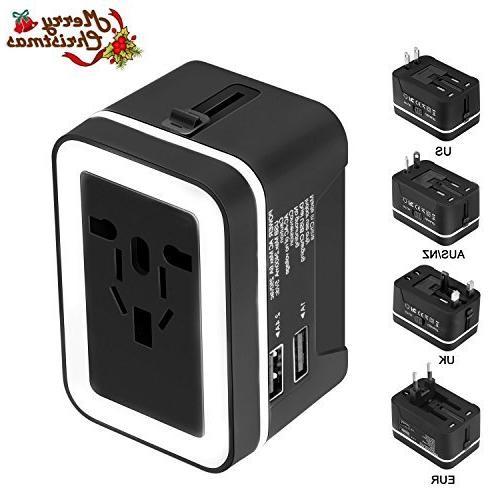 xcords travel adapter premium worldwide one universal plug c
