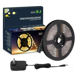 LE 16.4ft LED Strip Light Kit with 12V 1 Pack Power Adapter,