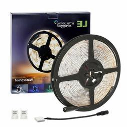 LE 16.4ft Waterproof 2835  LED Light Strip 12V Tape Lamp wit