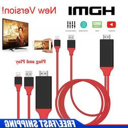 Lightning to HDMI HDTV AV Cable Adapter iPhone 6 6S 7 8 Plus