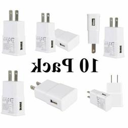 lot 10 pack usb power adapter ac