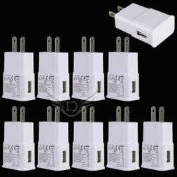 Lot 10 USB Power Adapter AC Home Wall Charger US Plug For Sa