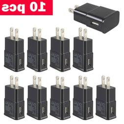 Lot 5-50 US Plug USB Power Adapter AC Home Wall Charger For