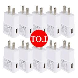 Lot USB Power Adapter AC Home Wall Charger US Plug For Samsu
