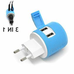 OREI Most of Europe Travel Plug Adapter - Dual USB - Surge P
