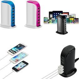 Multi 6 USB Port Desktop Charger Rapid Tower Charging Statio