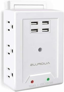 Multi Outlet Wall Adapter, AUOPLUS Power Strip with 6 AC Out