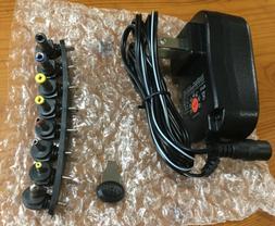 NEW SoulBay 15W Universal AC Adapter 3V 4.5V 5V 6V 7.5V 9V 1