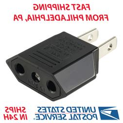 New EU/Euro To US/USA Travel Power Converter Adapter Adaptor