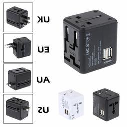 New Universal Power Adapter Electric Converter US/AU/UK/EU W