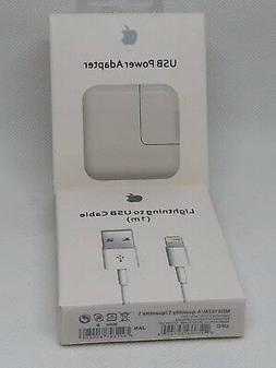 OEM Apple Lightning USB Cable and Power Adapter 12W Charger