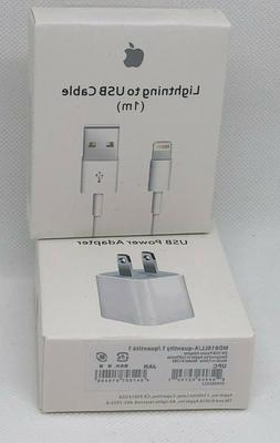 OEM Apple Lightning Cable USB Charge + 5W Power Wall Adapter