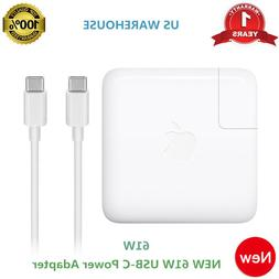 Original 61W USB-C Power Charger Adapter for Apple MacBook P