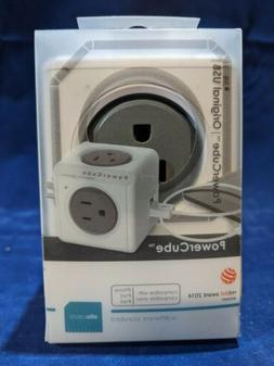 PowerCube Original USB - 4 Outlet Power Adapter with Dual US
