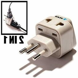 OREI Power Converters Universal 2 In 1 Plug Adapter Type N F