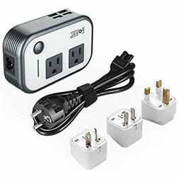 Foval Power Step Down 220V to 110V Voltage Converter with 4-