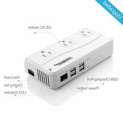 200W Power Inverter DC 12V to 110V AC Inverter with 4.2A 4-P
