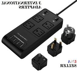 Power Strip Surge Protector 4 Outlets USB Ports + 6ft Cord I