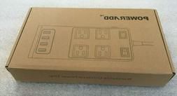 POWERADD EZ GO SURGE PROTECTOR 4 AC OUTLETS W/ 4 PORTS USB C