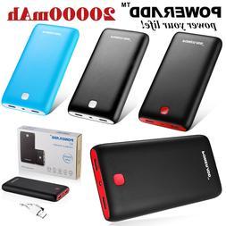 Poweradd Pilot X7 20000mAh Power Bank 2USB Portable phone Ch