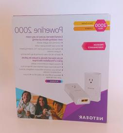 NETGEAR Powerline Adapter 2000 Mbps  Gigabit Ethernet Ports