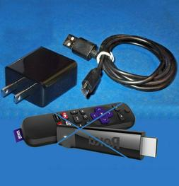 SALE Power Adapter + Micro USB Cable Roku Streaming Stick Am