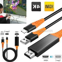 For Samsung Galaxy S10 S8 S9 Note 10 plus 4K Type C To HDMI
