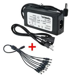Security Cameras 8 Port 12V 8A DC Power Adapter for Q-see Zm