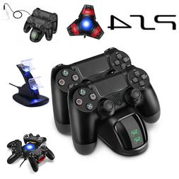 For PS4 PlayStation4 Controller Dual USB Charger LED Dock St
