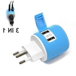 OREI Switzerland Travel Plug Adapter - Dual USB - Surge Prot