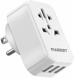 To USA Travel Adapter Power Plug Tpye B with 3 USB Port Inte