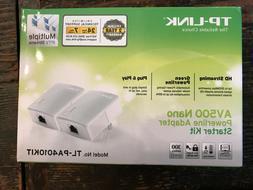 TP-Link TL-PA4010KIT AV500 Nano Powerline Adapter Starter Ki