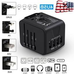 Universal Travel Adapter International Power Outlet UK/US/EU