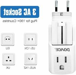 Travel Adapter, Universal Power Plug Adapter with 3 AC Outle