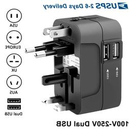 Travel Plug Adapter European Outlet International Universal