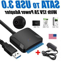 UASP SATA TO USB 3.0 Converter Cable 2.5 3.5 inch HDD SSD Ad
