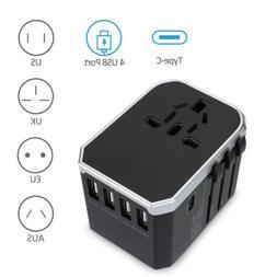 Universal 4 USB Ports International Travel Wall Charger Adap
