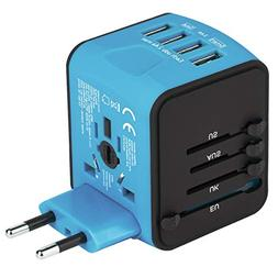 Castries Universal Travel Adapter, All-in-one Worldwide Trav