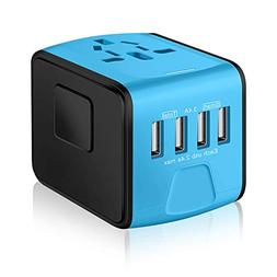 SAUNORCH Universal International Travel Power Adapter W/Smar
