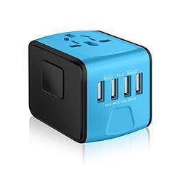 SAUNORCH Universal International Travel Power Adapter W/Smar