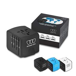 Universal Travel Power Adapter with Smart High Speed 2.4A 4x