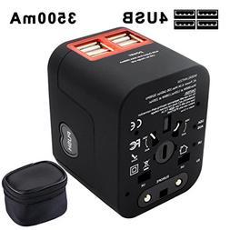 Universal Power Adapter, Woigi Travel Power Converter with 4