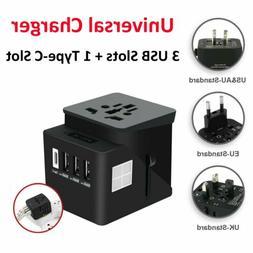 Universal Power Adapter Electric Converter World USB Travel