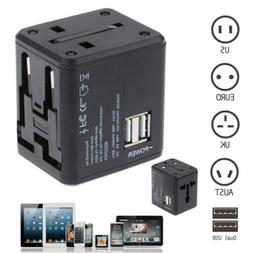 Universal Power Adapter Electric US/AU/UK/EU Converter  USB