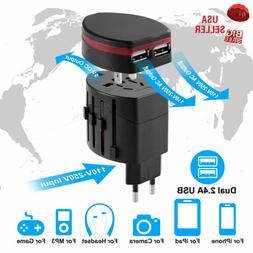 Universal Power Plug Adapter All in One Travel Wall Charger