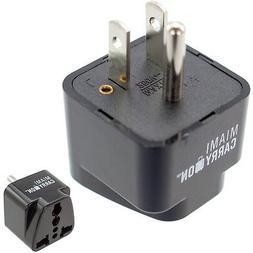 Miami CarryOn Universal Power Travel Adapter, UK / EU / AU /