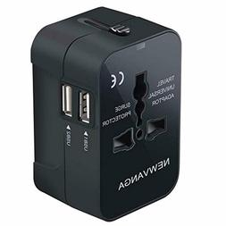 Universal Travel Adapter Power Converter Wall Charger AC Pow
